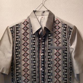ステューシー(STUSSY)のヴィンテージ XL オーバーサイズ 刺繍 柄シャツ(シャツ)