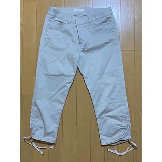 エフデ(ef-de)のエフデ 美脚♪裾シャーリング リボンポケットクロップドパンツ サイズ11(クロップドパンツ)