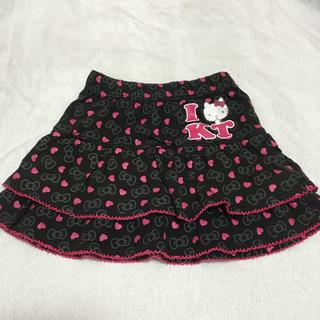 シマムラ(しまむら)のキティ★リボン×ハート柄スカート★110(スカート)