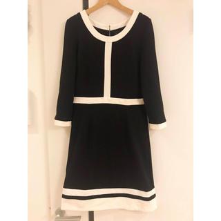 アイスバーグ(ICEBERG)のRUIRUE ワンピース 白 黒 ホワイト ブラック バイカラー(ミディアムドレス)