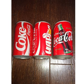 コカコーラ(コカ・コーラ)のとてもアンティーク コカコーラ 空き缶 セット(その他)
