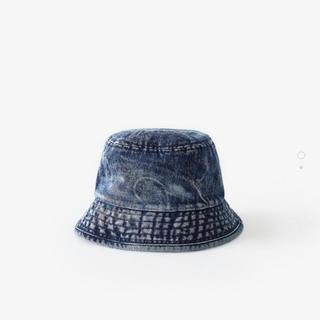 ザラ(ZARA)のザラ ウォッシュ加工 デニム ハット 新品未使用品(帽子)