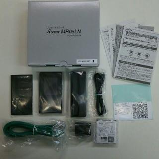 エヌイーシー(NEC)のAterm MR05LN LTEモバイルルータ(純正クレードル付きSIMフリー)(その他)