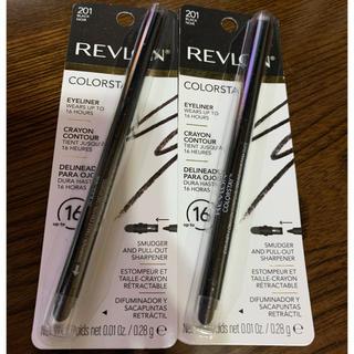 レブロン(REVLON)の新品未使用 REVLON アイライナー黒 2本(アイライナー)