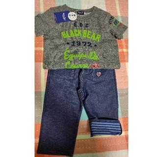ミキハウス(mikihouse)の新品ミキハウスブラックベアTシャツハーフパンツズボン半袖110セット(パンツ/スパッツ)