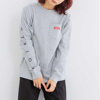 X-girl - X-girl BOX LOGO POCKET REGULAR L/S TEE 1