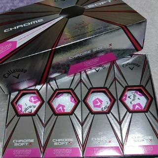キャロウェイ(Callaway)のキャロウェイ ゴルフボール クロムソフトX 白×ピンク 1ダース 新品未使用(その他)