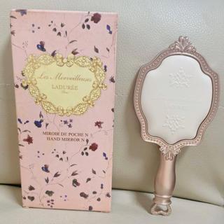 ラデュレ(LADUREE)の新品未使用 ラデュレ ハンドミラー 手鏡 ピンク かわいい(ミラー)