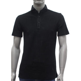 ギローバー(GUY ROVER)の2019年春夏新作 GUY ROVER 黒パイル ポロシャツ(ポロシャツ)