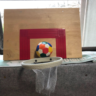 手作り ミニバスケットゴール (木製)(スポーツ)