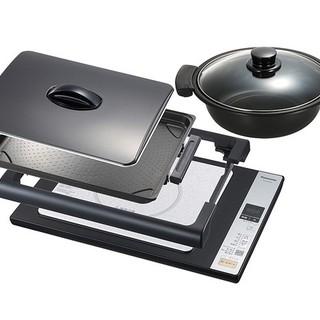 パナソニック(Panasonic)のたこさん専用パナソニックIHホットプレート、鍋付き(ホットプレート)