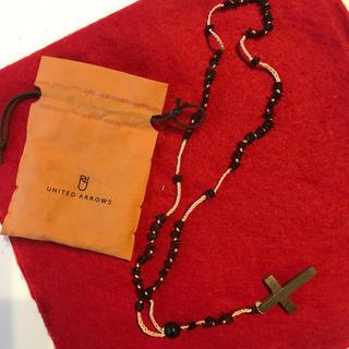 ユナイテッドアローズ(UNITED ARROWS)のユナイテッドアローズ購入 ウッドクロスネックレス‼洒落乙✌️️(ネックレス)