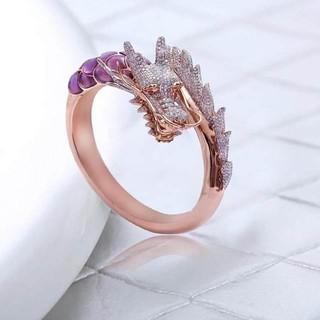 ドラゴンリング 竜モチーフ ピンクリング(リング(指輪))