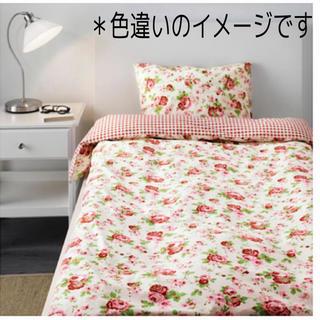 イケア(IKEA)のIKEA 花柄 ベッド 布団カバー  枕カバー (シーツ/カバー)
