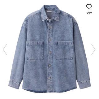ジーユー(GU)のGU/ジーユー♡今期大人気!デニムシャツジャケットSサイズ(Gジャン/デニムジャケット)