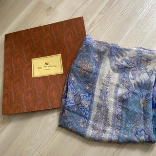 ETRO - ETRO スカーフ 大判スカーフ ペイズリー柄 ブルー エトロ