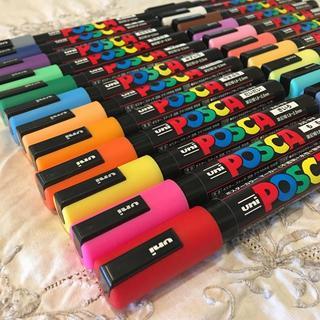 ミツビシエンピツ(三菱鉛筆)の三菱鉛筆 ポスカ( 中字丸芯 )PC-5M 全24色 新品(ペン/マーカー)