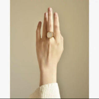 アパルトモンドゥーズィエムクラス(L'Appartement DEUXIEME CLASSE)のシグネットリング 24k  刻印あり(リング(指輪))