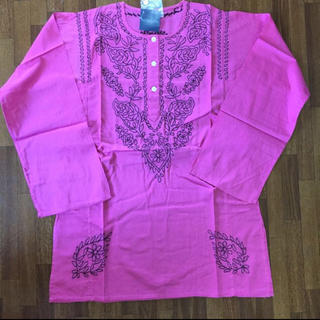 アンティックバティック(Antik batik)の涼しい!焼けない!ANTIK BATIK シンプル刺繍 長袖カットソー (シャツ/ブラウス(長袖/七分))