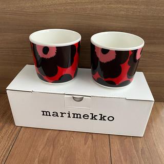 マリメッコ(marimekko)の新品 マリメッコ ラテマグ 2点(グラス/カップ)