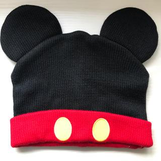 ディズニー(Disney)の刺繍サイン入り ニット帽 (ミッキーマウス)(ニット帽/ビーニー)