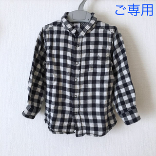 プチバトー(PETIT BATEAU)の*ご専用* プチバトー  チェックシャツ  ポロシャツ  3ans(ブラウス)
