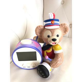 ディズニー(Disney)のダッフィー35周年限定 目指し時計(置時計)