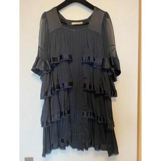 バレンシアガ(Balenciaga)のバレンシアガ  本物 ワンピース 黒 ドレス(ひざ丈ワンピース)