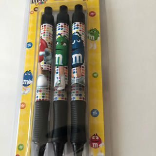 エムアンドエムアンドエムズ(m&m&m's)のm&m's ボールペン 3本(キャラクターグッズ)