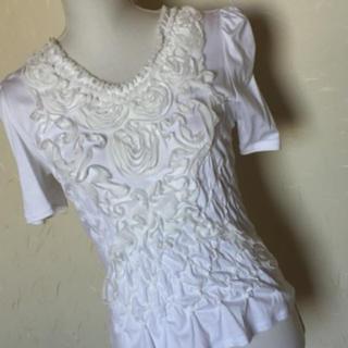 エムズグレイシー(M'S GRACY)のM'S  GRACY(エムズグレイシー) 花モチーフTシャツ(Tシャツ(半袖/袖なし))