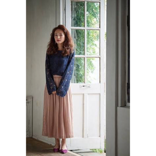 シェリーモナ(Cherie Mona)のマットサテンプリーツスカート(ロングスカート)