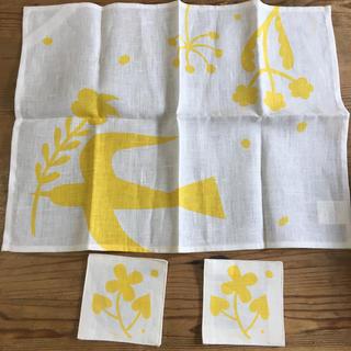 フォグリネンワーク(fog linen work)のfog for La fleur プレイスマット&コースター2枚(テーブル用品)