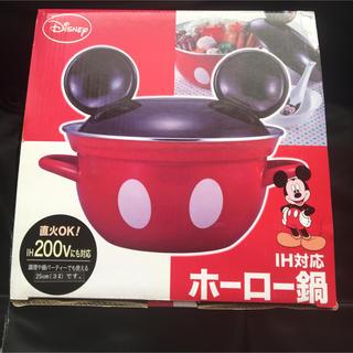 ディズニー(Disney)のホーロー鍋 ミッキーマウス ディズニー 新品未使用 IH対応 IH対応ホーロー鍋(鍋/フライパン)
