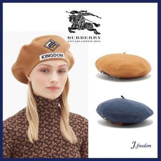 バーバリー(BURBERRY)の新作✨新品タグ付き バーバリーロンドン BTロゴ ベレー帽(ハンチング/ベレー帽)