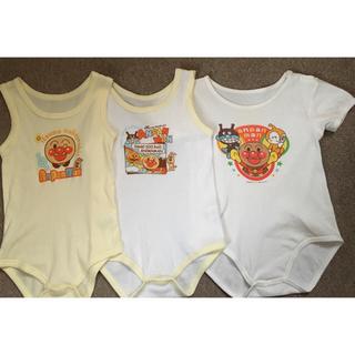アンパンマン(アンパンマン)のアンパンマン ボディースーツ 半袖・袖なしタンクトップ3枚+おまけ 送料込 95(下着)