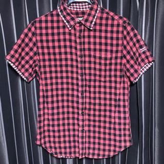 ピーピーエフエム(PPFM)のPPFM 半袖チェックシャツ Sサイズ(シャツ)