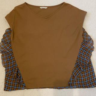 アウィーエフ(AuieF)のAuieF 美品 カットソー(カットソー(半袖/袖なし))