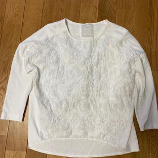 ビアズリー(BEARDSLEY)のビアズリー  フロント刺繍カットソー(カットソー(長袖/七分))