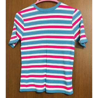 ジーユー(GU)のGU マルチボーダーT(半袖) 311311(Tシャツ(半袖/袖なし))