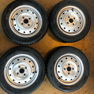 DUNLOP - 軽用 155/65R13 スタッドレス タイヤホイール 4本セット