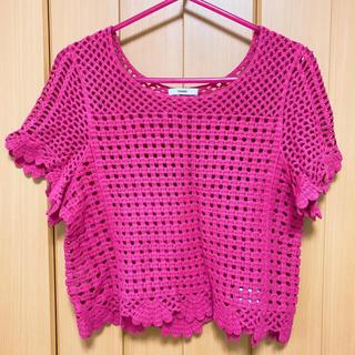 ミスティック(mystic)のmystic ピンクカットソー(Tシャツ/カットソー)