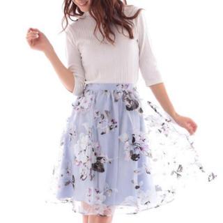 エディグレース(EDDY GRACE)のエディグレース 花柄 スカート F(ひざ丈スカート)