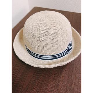 ☆美品☆ 麦わら帽子   顎紐・日除け付き 46cm(帽子)