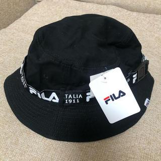 フィラ(FILA)のフィラ 黒 帽子 タグ付き(ハット)