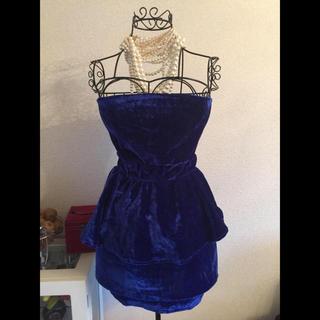 アナップラティーナ(ANAP Latina)のベロアペプラムドレス(ミニドレス)