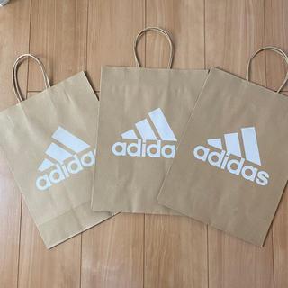 アディダス(adidas)のadidas アディダス 紙袋 3枚セット(ショップ袋)