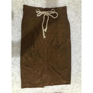 カプリシューレマージュ(CAPRICIEUX LE'MAGE)のCAPRICIEUX LE'MAGEスカート(ブラウン)(ひざ丈スカート)