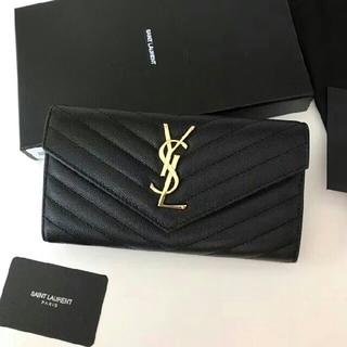 イヴサンローランボーテ(Yves Saint Laurent Beaute)の超美品 YSL サンローラン 長財布  黒い   F54236(長財布)