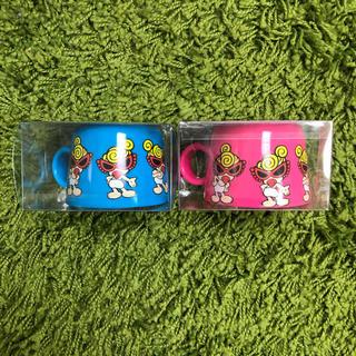 ヒステリックミニ(HYSTERIC MINI)の【新品送料込】ヒスミニ ペットボトルキャップコップ2個(キャラクターグッズ)