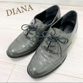 ダイアナ(DIANA)の美品!定価18000円 ダイアナ 23.5 日本製 グリーン 革靴 パンプス(ローファー/革靴)